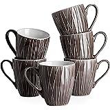 DOWAN Coffee Mugs, 14 Ounces Large Handle Coffee Mug Set of 6, Ceramic Mug for Coffee, Tea, Cocoa, and Mulled Drinks…