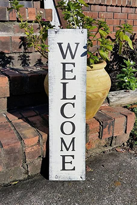 Amazoncom Welcome Sign Wooden Welcome Sign Primitive Home Decor