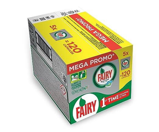 20 opinioni per Fairy Platinum Caps per Lavastoviglie, Confezione da 120, Pacco5x24
