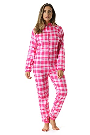 fabb1eeb9d45 Just Love Printed Flannel Adult Onesie Pajamas at Amazon Women s ...