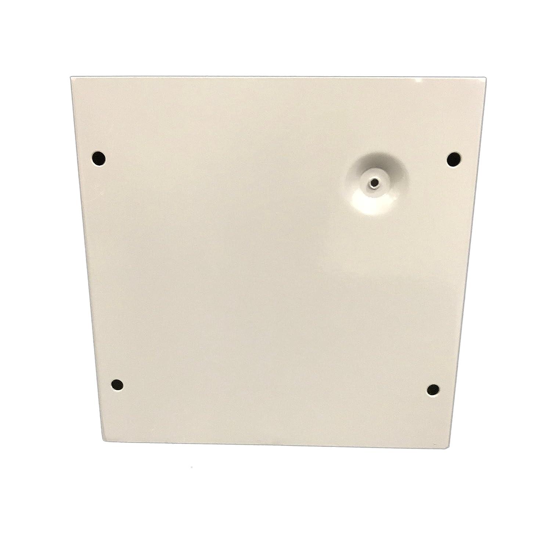 8 Width x 8 Height x 4 Depth BUD Industries JB-3957 Steel NEMA 1 Sheet Metal Junction Box with Lift-off Screw Cover Gray Finish 8 Width x 8 Height x 4 Depth