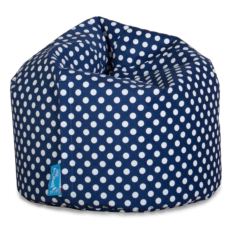 Kindersessel Druck Blau Getupft Sitzsack Kinder Lounge Pug/®