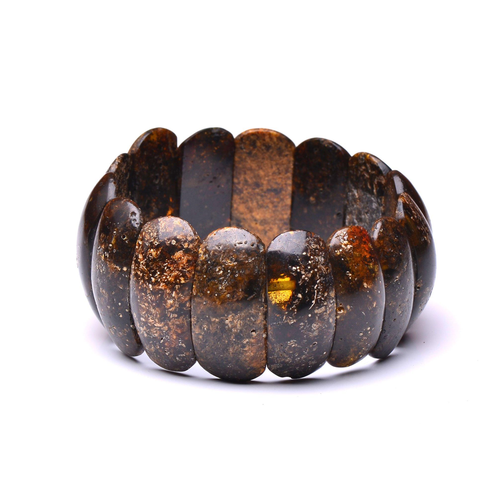 Certified Unique Amber Bracelet - Dark Amber Bracelet - Exclusive Bracelet Made from Amber by Genuine Amber