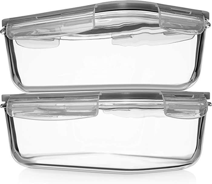 The Best Glass Food Storage Containers With Lids 74 Oz
