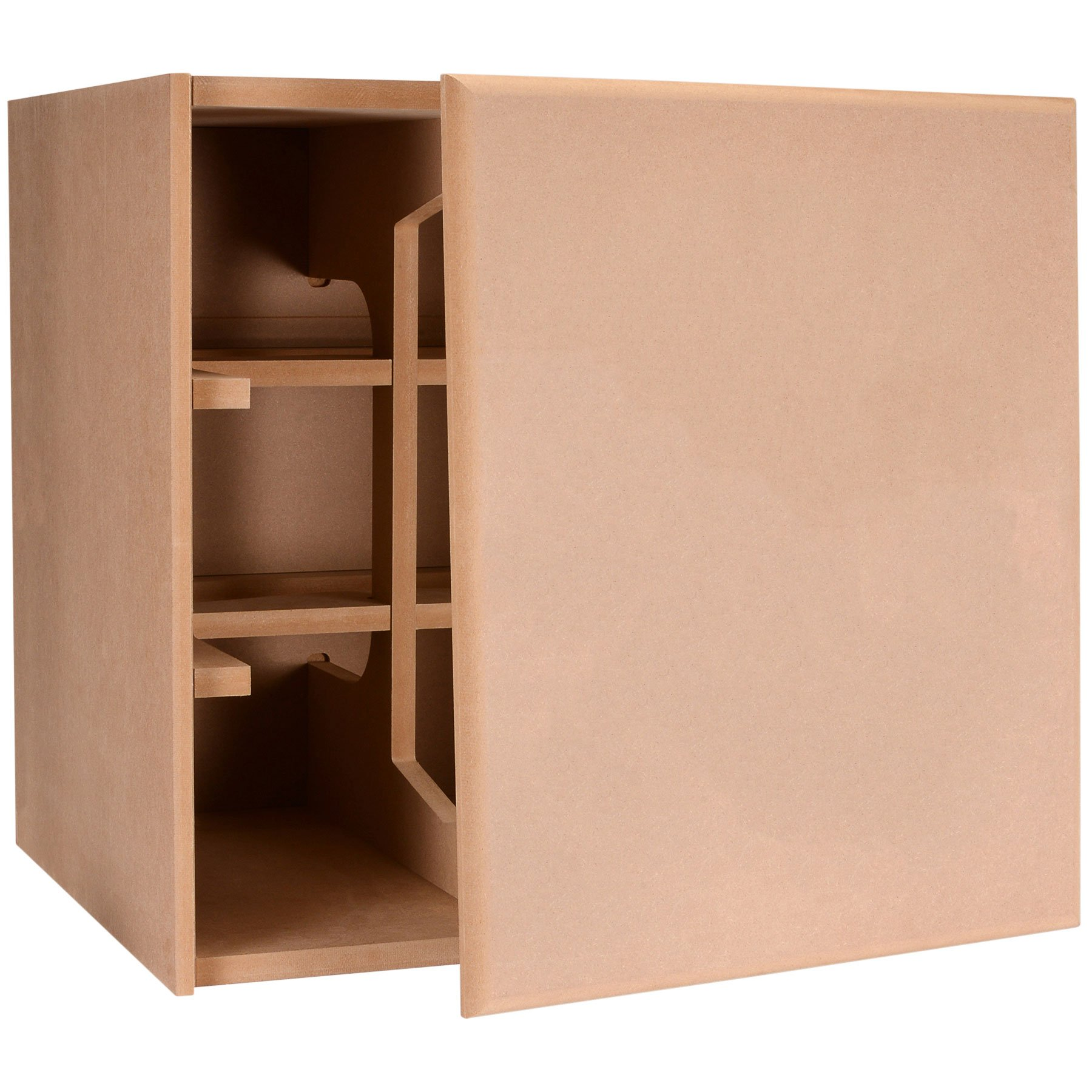 Denovo Audio Knock-Down MDF 4.0 cu. ft. Subwoofer Cabinet with Blank Baffle