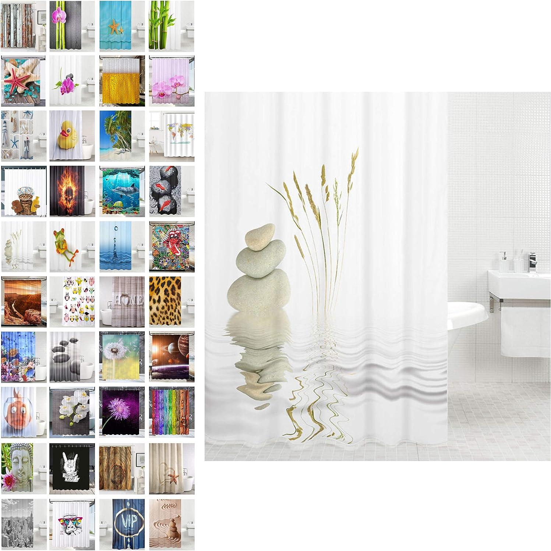 Abellale Rideau Douche Cheval Rideau Douche Elements Color/é 180x200CM
