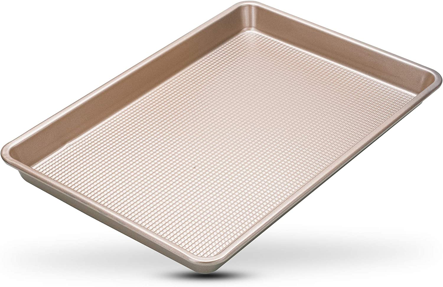 Nonstick Jelly Roll Baking Pan - 10 x 15 Jelly Roll Baking Sheet Pan - Perfect Cookie Sheet For Baking and Roasting - Durable Warp-Resistant, Superior Baking Design - Food-Safe Nonstick Coating