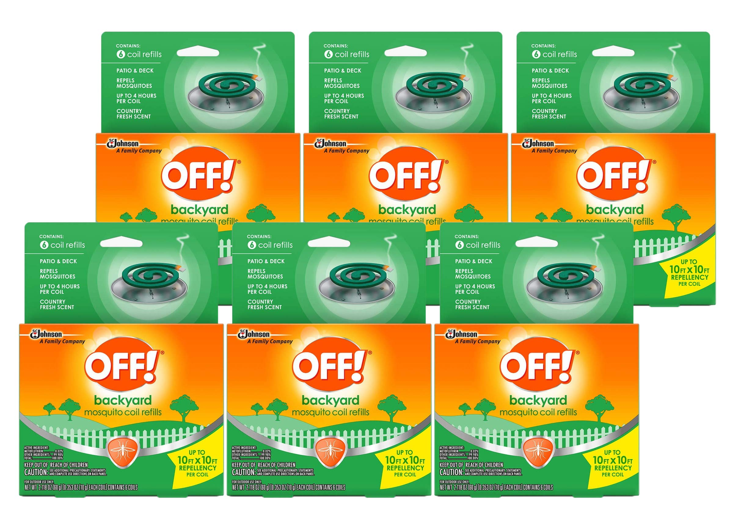 Off!. S C Johnson Country Fresh Scent Mosquito Coil III Refills, 6 Refills (Pack of 6) by Off!.