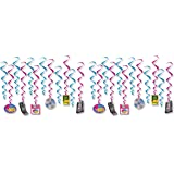 """Beistle 53489 I Love The 90's Whirls, 24 Piece, 15""""-28"""", Multicolored"""