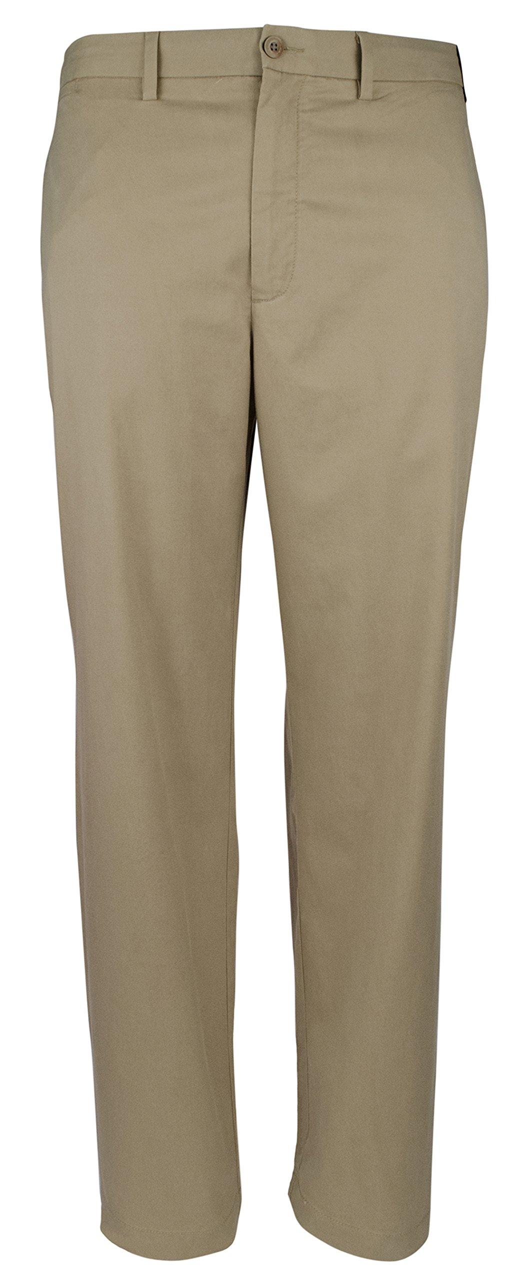 Tommy Bahama Big & Tall Men's Big & Tall Offshore Flat Front Pants Khaki 48W x 32L