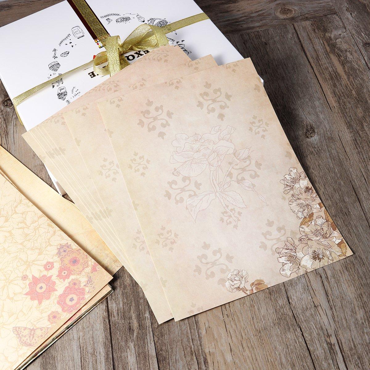 10PCS NUOLUX Carta della lettera della busta colore assortito articoli di carta di scrittura della cancelleria