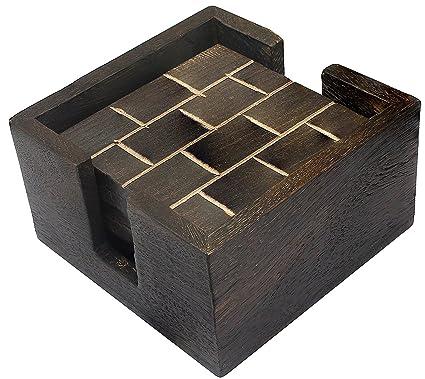 Hecho a mano 6 mesas de madera de la tabla cuadrada con el sostenedor para las