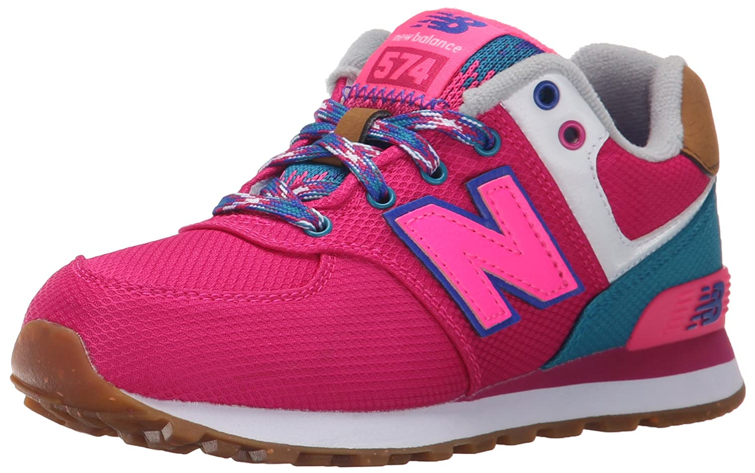 New Balance 476580-43, Chaussures lacées Fille New Balance KL574T4P Oxford fille Rose (Pink/Rose) 29