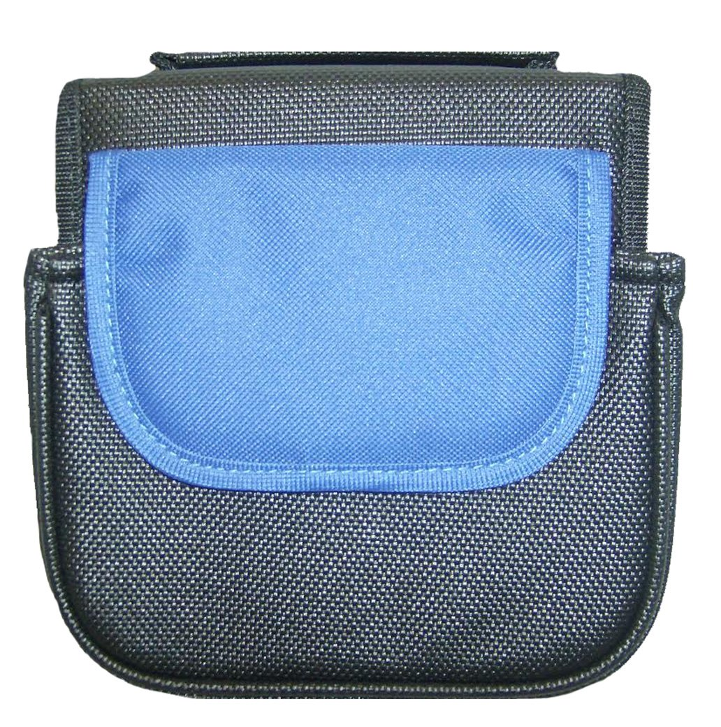 Ralitto Black and Blue Canvas 32 CD Case Storage Wallet cdcase24