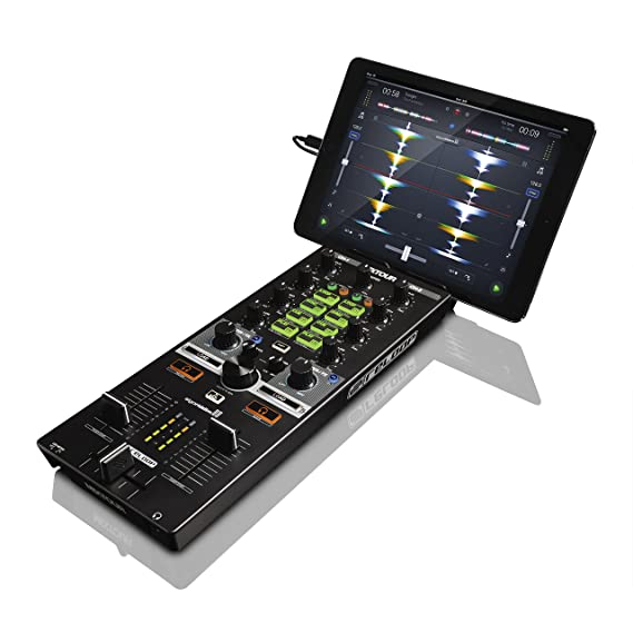 USB portátil y controlador de DJ Reloop Mixtour Todo en uno, negro ...