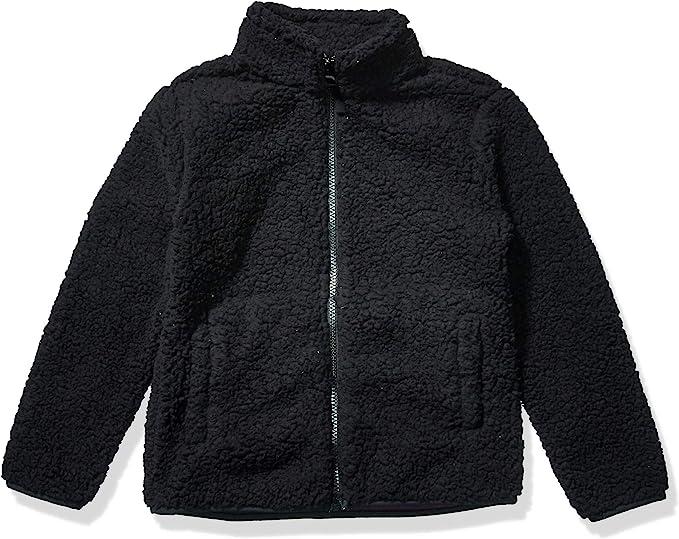 Essentials Girls Quarter-Zip High-Pile Polar Fleece Jacket Jacket