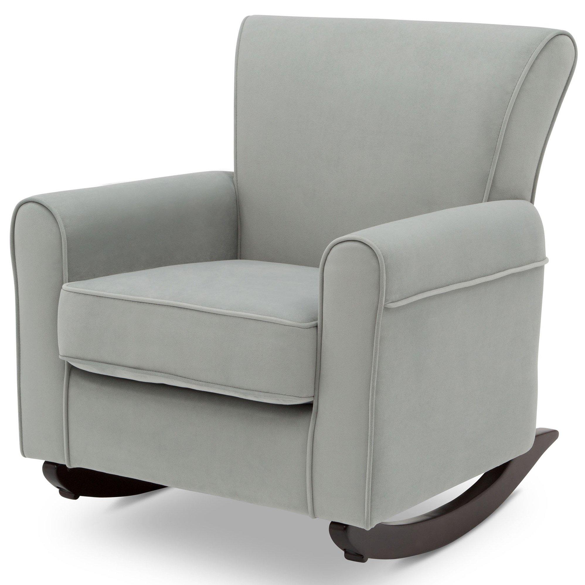 Delta Children Lancaster Rocking Chair Featuring Live Smart Fabric, Mist by Delta Children