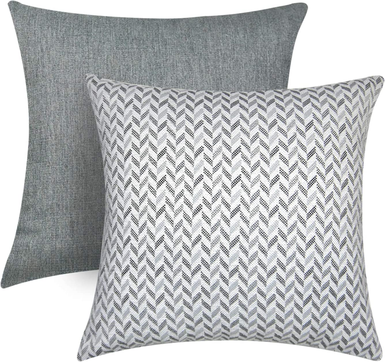Sunlit Decorative Throw Pillows Cushion Cover Modern Accent Square Pillow 18 X 18 Set Of 2 Gray And Arrow Patterns For Sofa Couch Chair Bedroom Car Gray Amazon Ca Home Kitchen