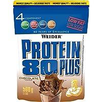 WEIDER Protein 80 Plus Eiweißpulver, Shoko (Low-Carb, Mehrkomponenten Casein Whey Mix für Proteinshakes, 500g)