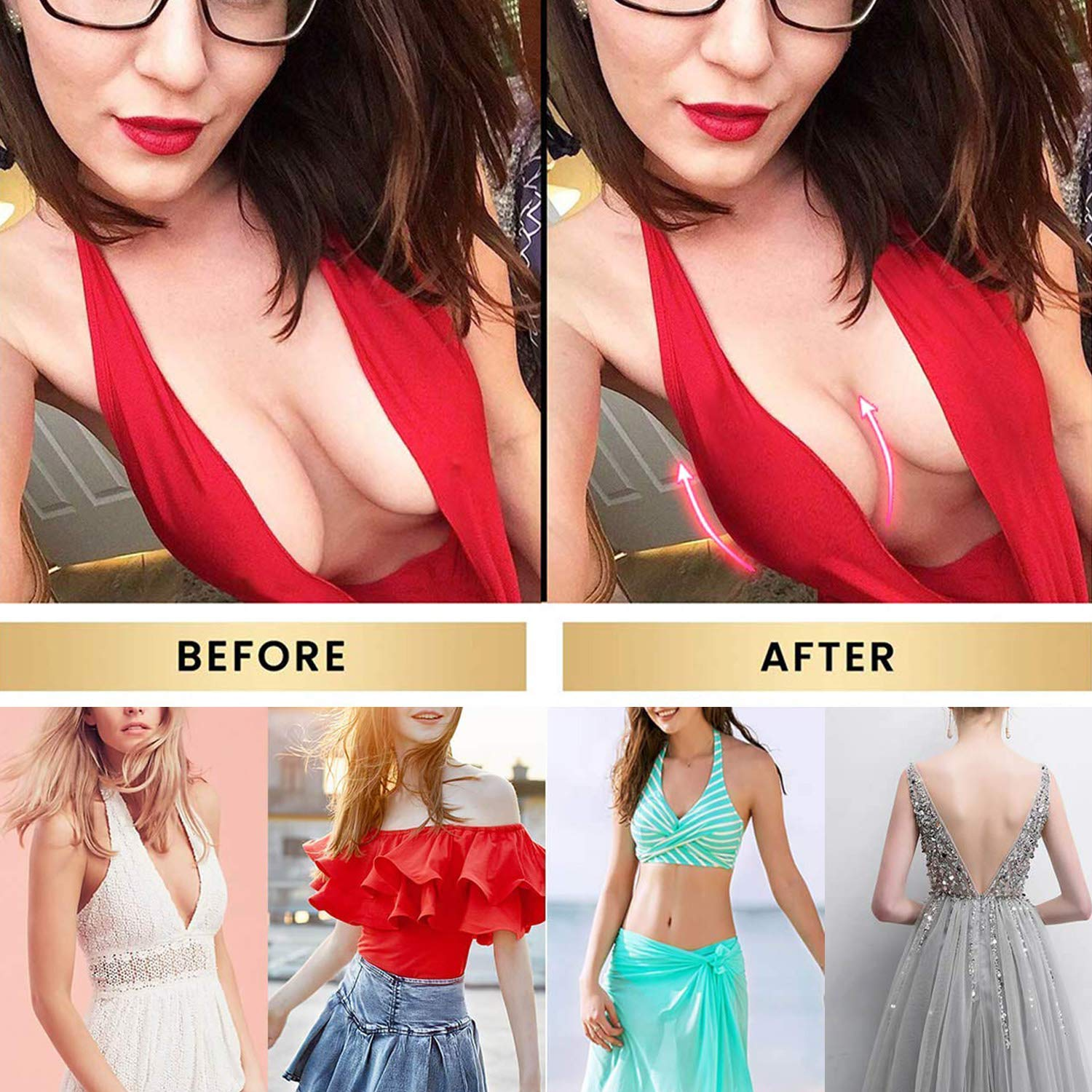Strapless Adhesive Nipple Covers Invisible Reusable Super Thin Breast Lift Pasties for Women