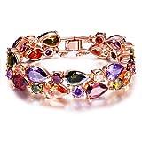 P&M-Party Queen-Bracelet femme-plaque or rose-autrichien cristal-bijoux fantaisie