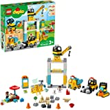 LEGO DUPLO Construction Tower Crane & Construction 10933 Exclusive Creative Building Playset with Toy Vehicles; Build Fine Mo