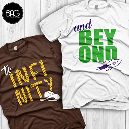 d4355c9979 Amazon.com: Disney couple shirt, To infinity and Beyond Shirts for couples,  Perfect for Honeymoons and Walt Disney World vacation, Gift for his and  her: ...