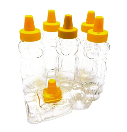 amazon com 6 pack empty plastic bear bottles 8 oz honey jar with