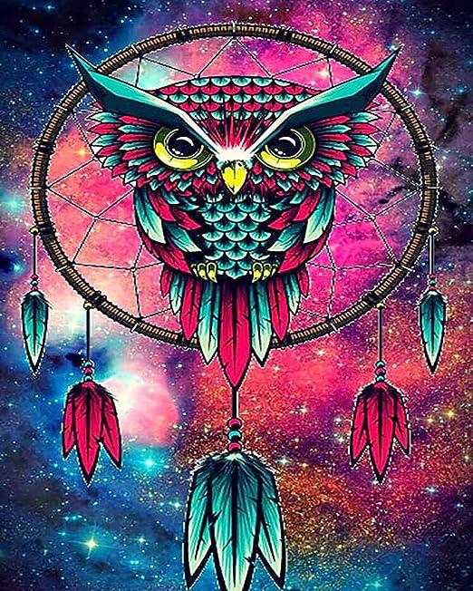 5D Mosaic Owl Design Full Drill Diamond DIY Cross Stitch Embroidery Painting Kit