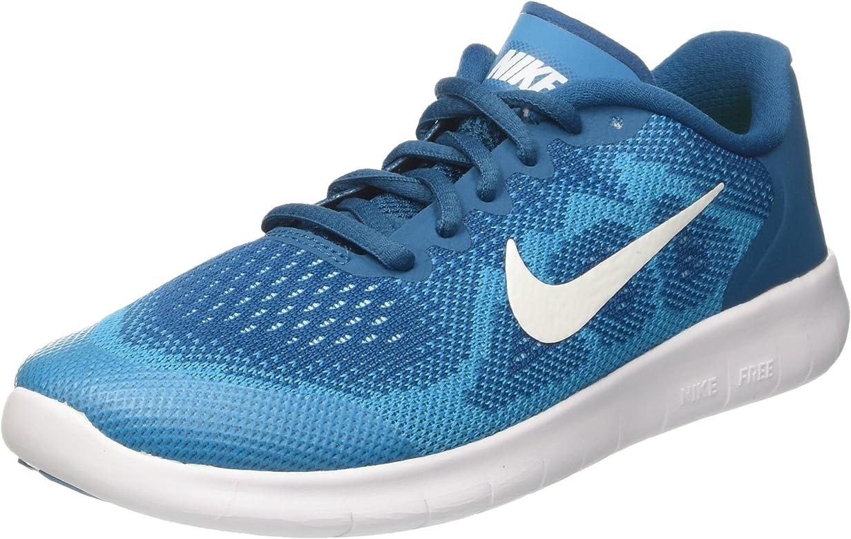 Nike Free RN 2017 (GS), Zapatillas de Entrenamiento Unisex Niños, Verde (Green Abyss/Metallic Summit White-Neo Turquoise 301), 38 EU: Amazon.es: Zapatos y complementos