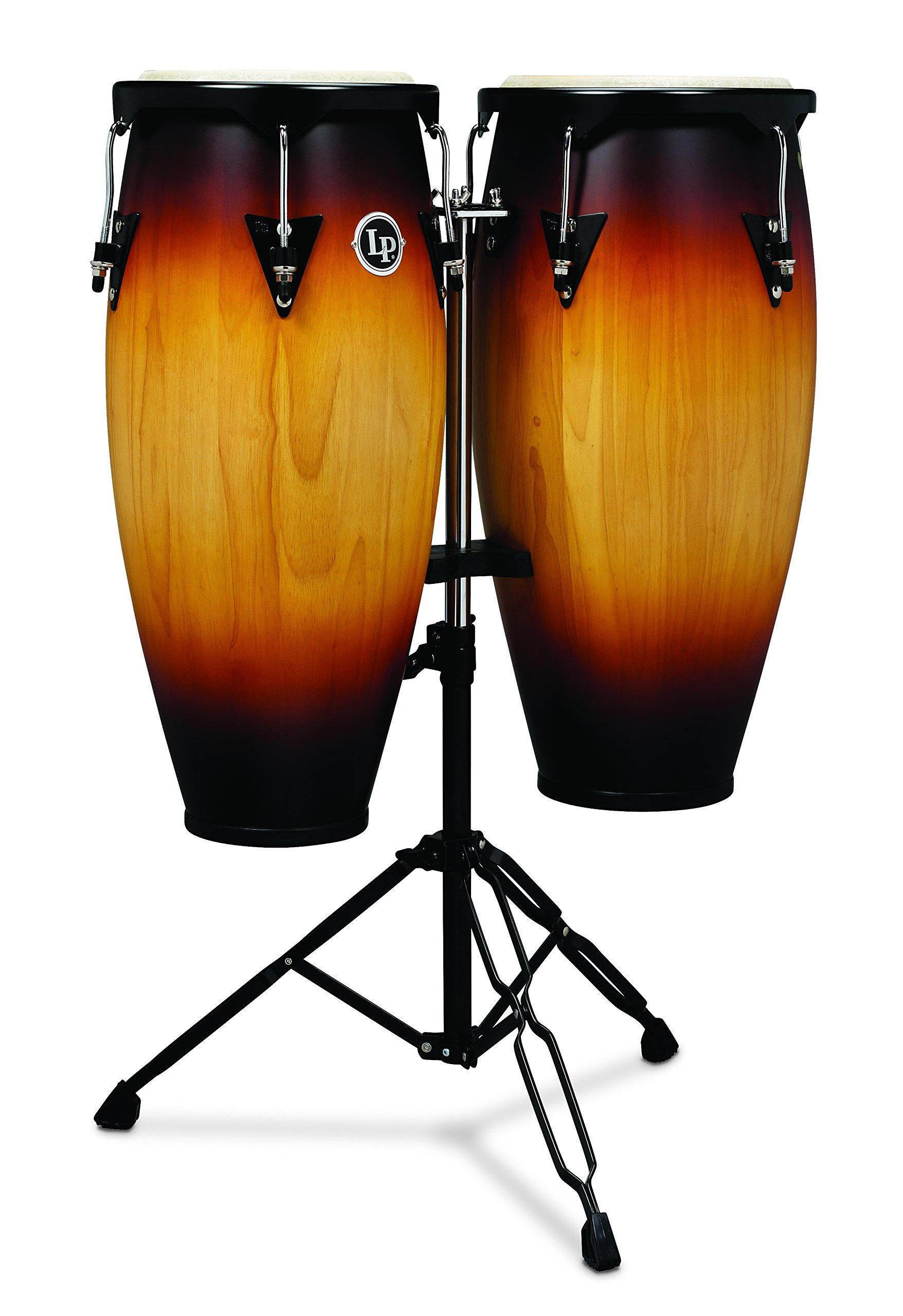 Latin Percussion LP City Wood Congas 10'' & 11'' Set - Vintage Sunburst by Latin Percussion