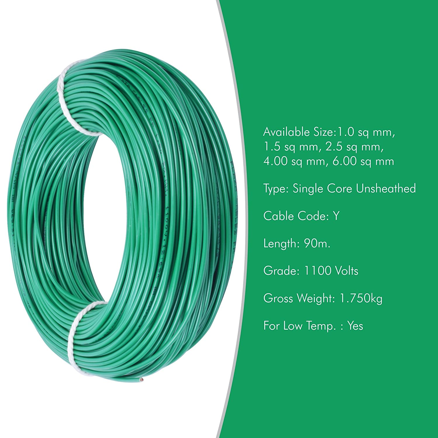 Plaza Cables 0.75 sq mm Copper PVC Insulated Electrical Wire/Cable ...
