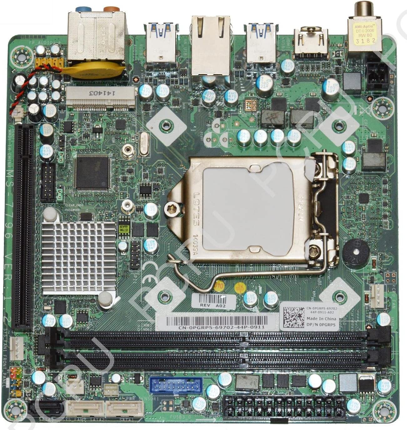 Dell Alienware X51 R2 Andromeda MS-7796 Intel CPU Desktop Motherboard PGRP5 0PGRP5
