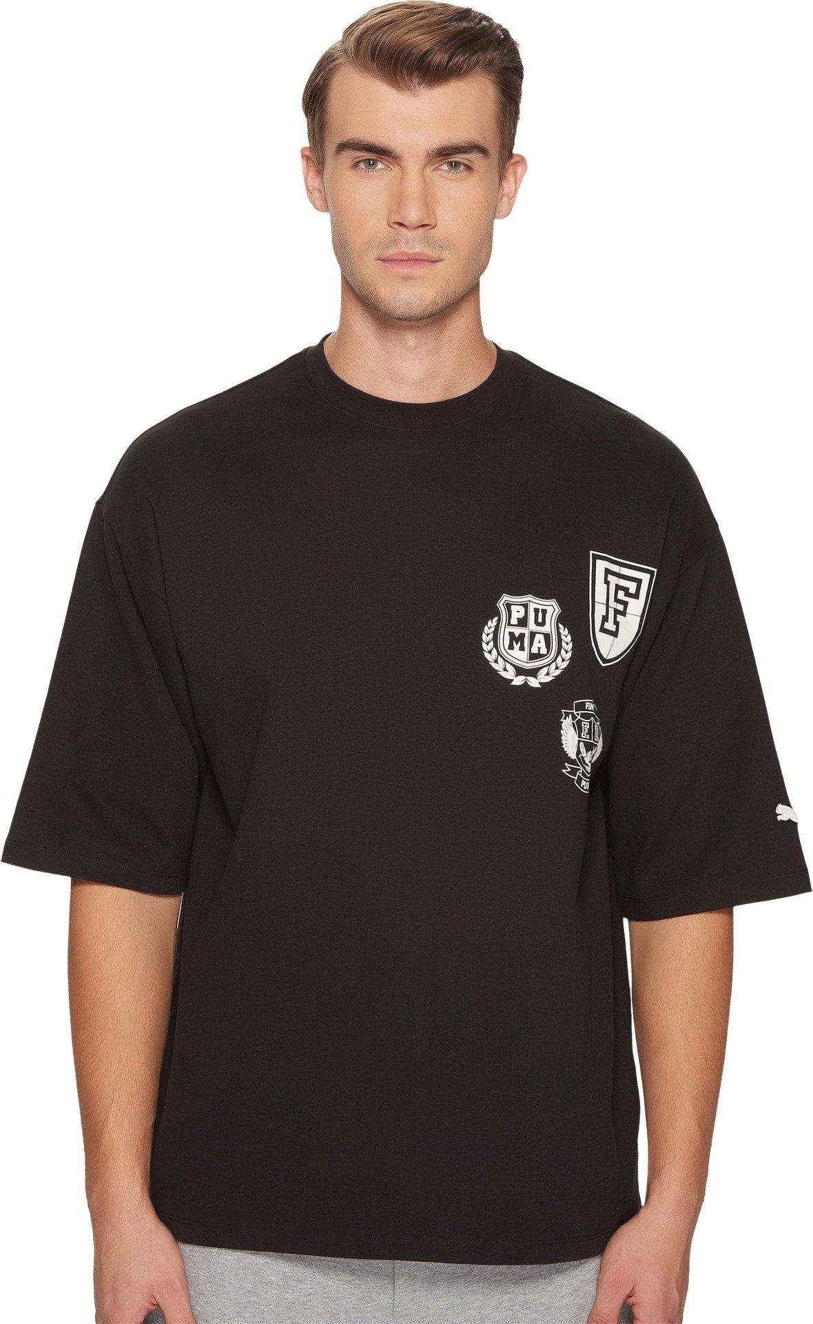 PUMA  Men's Puma x Fenty by Rihanna Short Sleeve Crew Neck T-Shirt Cotton Black Medium