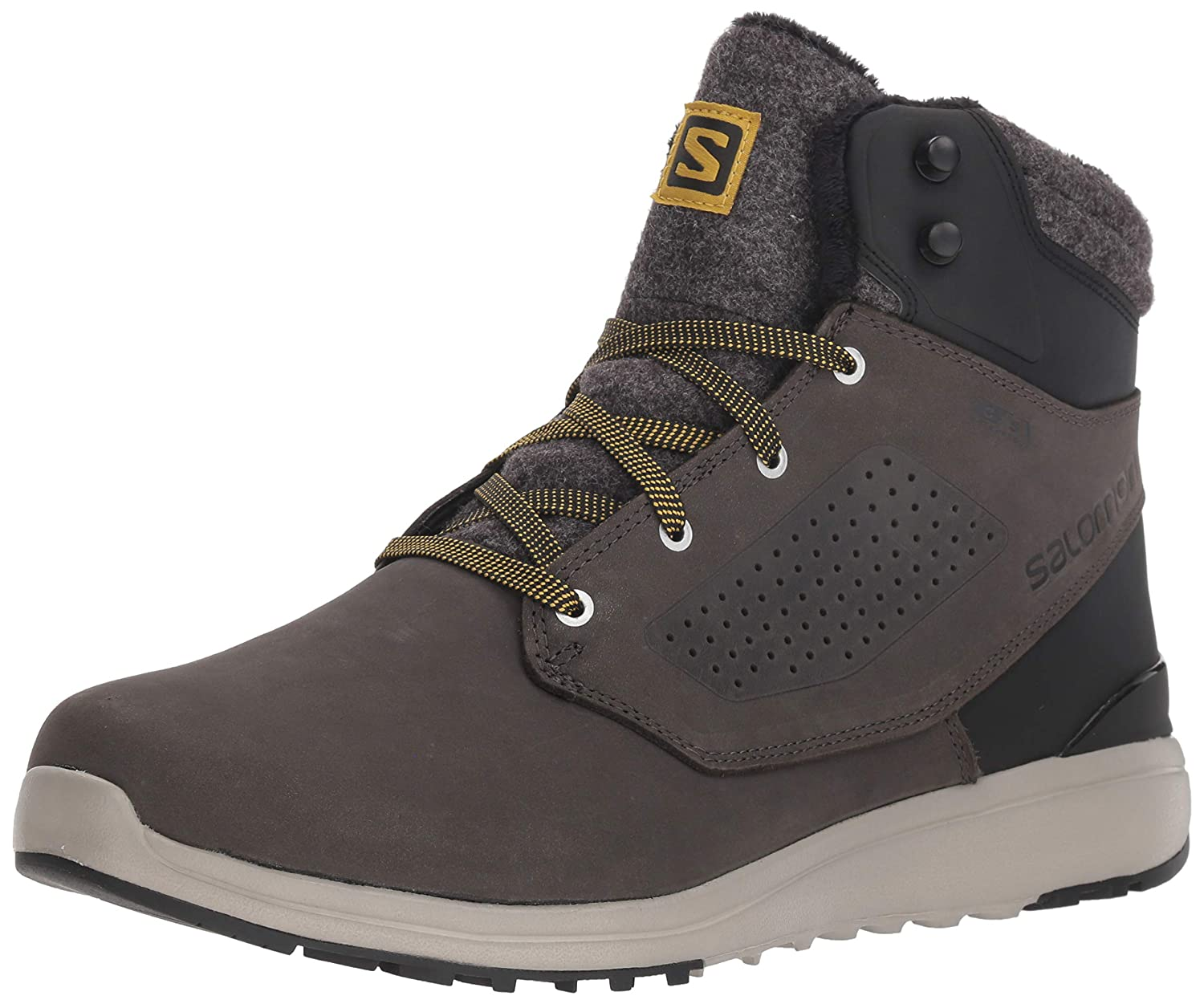 Salomon Utility Winter CS WP Black Black Red Dahlia: Amazon