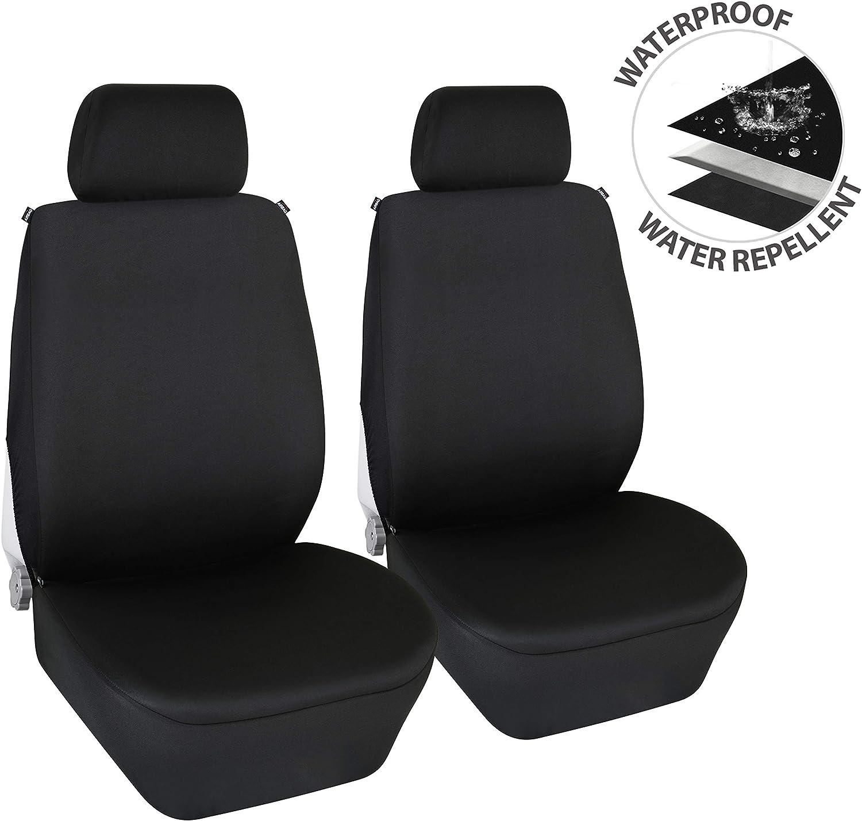 Black Pair Quick Fit Fabric Waterproof Air Bag Premium Seat Cover For VW