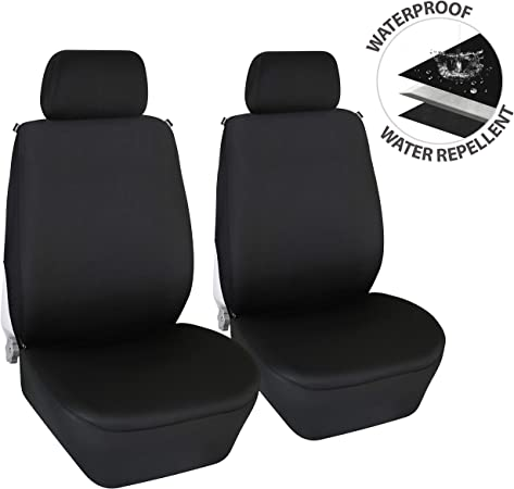 Anti-Dust//Water//Dirt Gray Black Car//Truck//Auto Seat covers W//Headrest Covers