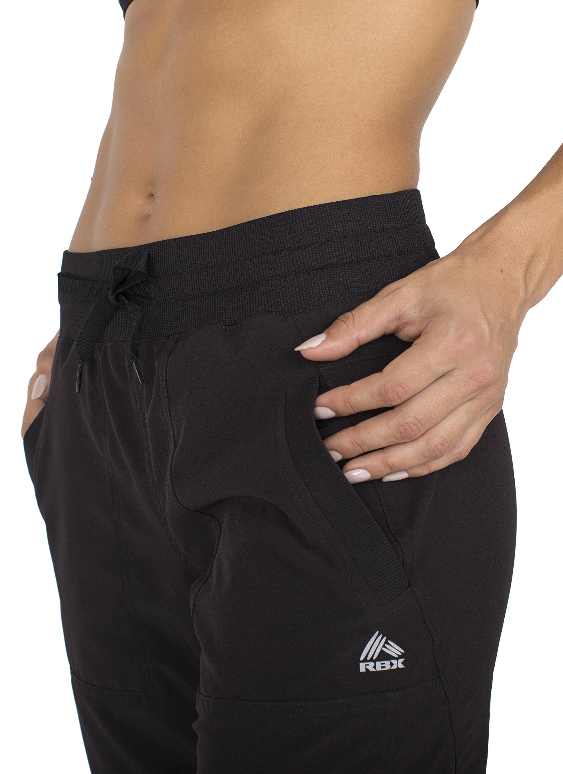 RBX Active Women's Lightweight Body Skimming Drawstring Zumba Pant,Large,Black