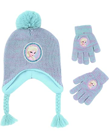 75b33e171f47a Disney Girls  Little Frozen Elsa Hat and Gloves Cold Weather Set