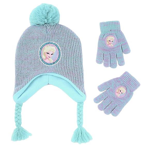 Disney - Conjunto de gorro y guantes para niñas de Little Frozen Elsa 84001d11dbd