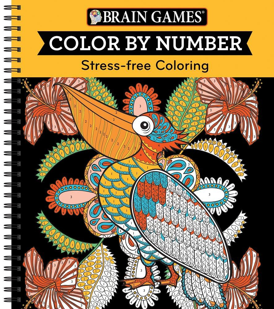Stress free coloring images - Amazon Com Brain Games Color By Number Stress Free Coloring Orange 9781680227710 Editors Of Publications International Ltd Books