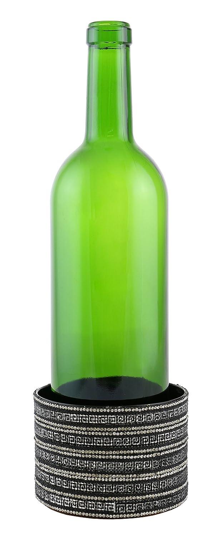 Vino órganos yc3080 elegante superficie pantalla decorada con Metal botella de vino posavasos, Gris: Amazon.es: Hogar