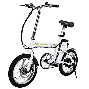 Ancheer 16 Folding Electric Bike With Pedal Assist 36v Lithium