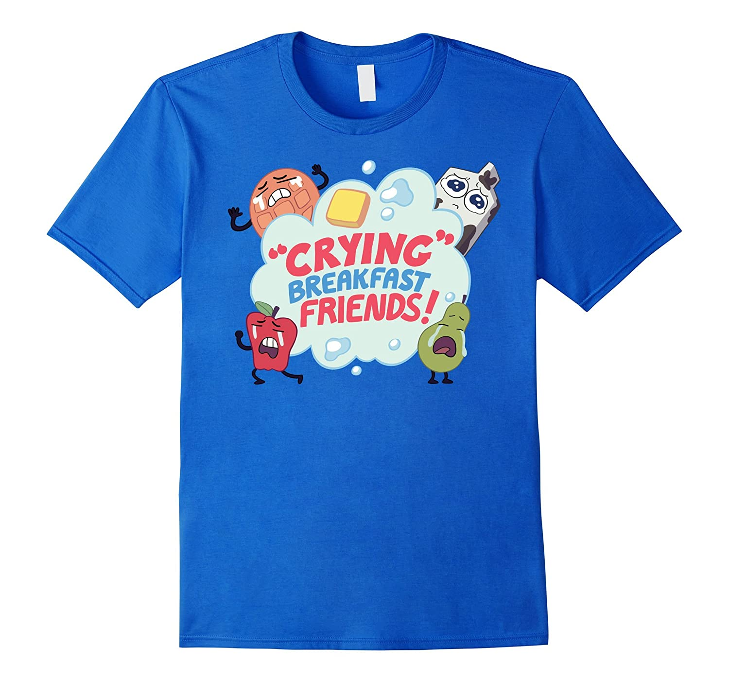 CN Steven Universe Crying Breakfast Friends Graphic T-Shirt