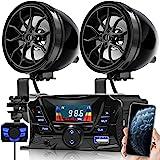 GoHawk TS3 Gen.3 Motorcycle Weatherproof Bluetooth Speakers 7/8-1.25 in. Handlebar Mount MP3 Music Player Sound Audio Stereo