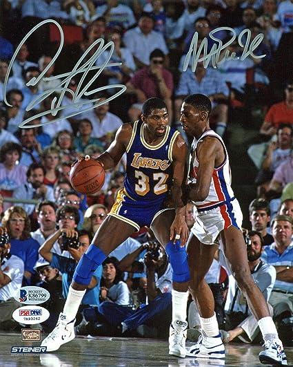 Magic Johnson   Dennis Rodman Authentic Autographed Signed 8x10 ... 283b12efb
