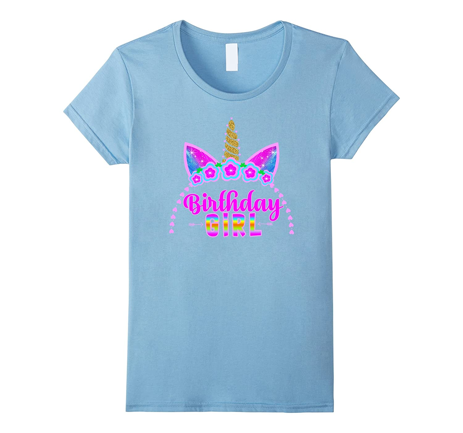 Amazon Unicorn Its My Birthday Headband Hair Graphic T Shirt Kids Clothing