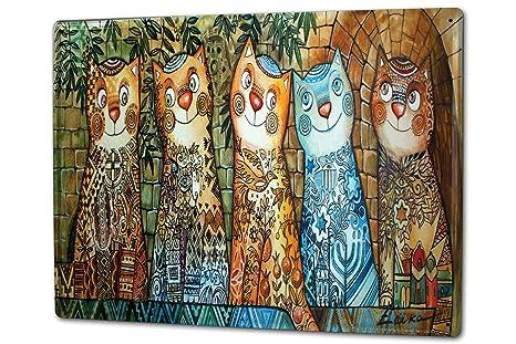 Cartel Letrero de Chapa XXL Raza De Gato gatos pintados