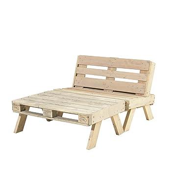 PLUS DK Paletten-Loungemöbel-Set groß unbehandelt: Amazon.de: Baumarkt