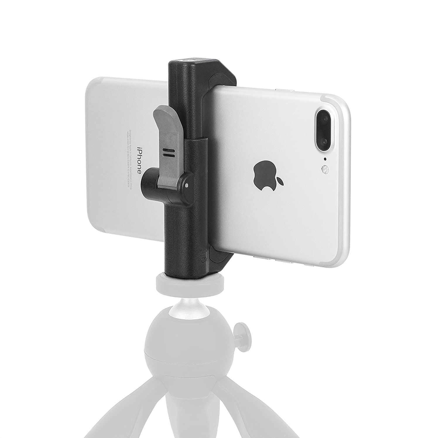 Glif - Quick Release Tripod Mount for Smartphones (Apple iPhone, Samsung Galaxy, Google Pixel, etc). Universal, fits All Devices, Portrait or Landscape. Studio Neat GLF004